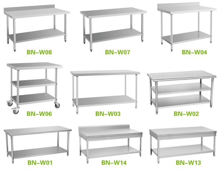 Cosbao bn w02 mesas de cocina de acero inoxidable mesas de for Mesa de trabajo dimensiones