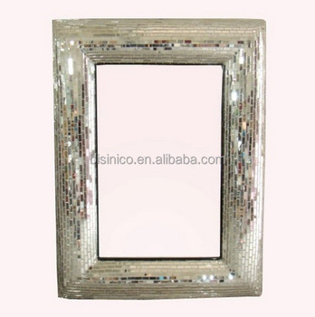 Champagne Frame With Broken Glass Mosaic Art Mirror,Handmade ...