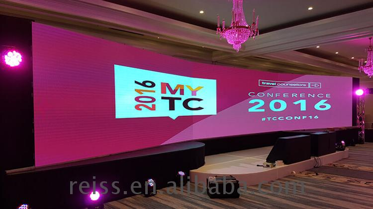 Hot sale Reiss Curved rental p4 p4.81 p5 p5.95 LED  display screen