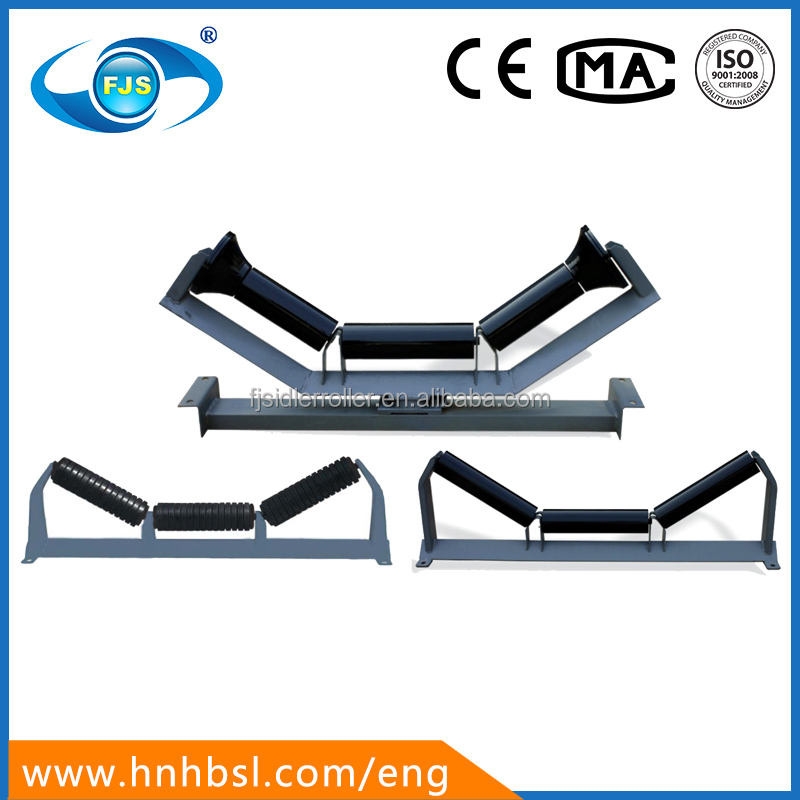 JIS standard UHMWPE/HDPE/STEEL belt conveyor gravity carry idler for port/harbor