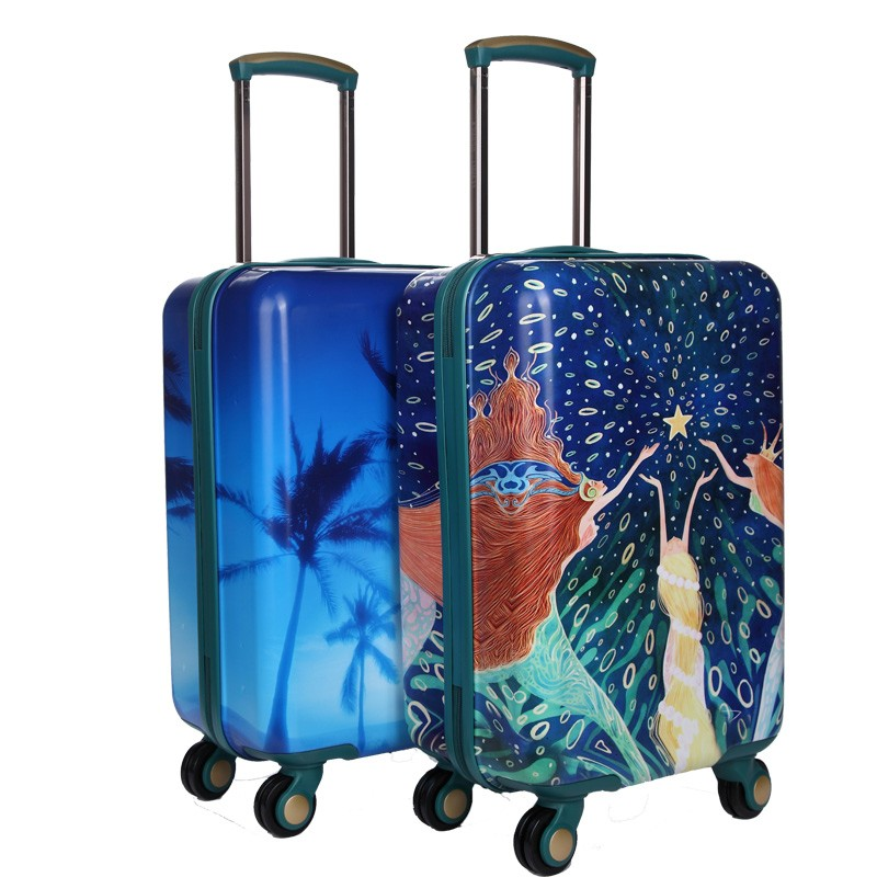Colorful PC Trolley Case PC Luggage Set Convenient for Travel