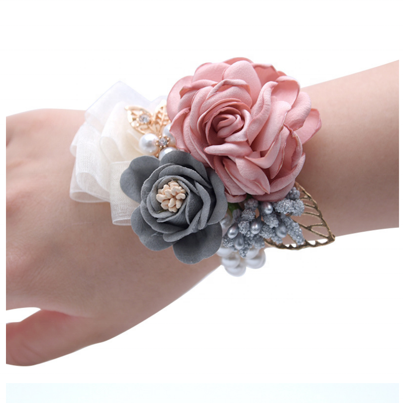 Festive & Party Supplies Yo Cho Diy Wedding Bridal Girl Bridesmaid Sisters Flower Hand Silk Rose Bracelet Quinceanera Prom Starfish Feather Wrist Corsage In Many Styles