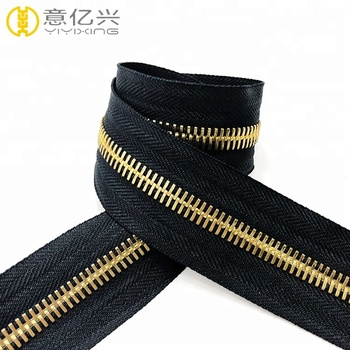 Custom Tape Color #5 Gold Teeth Magnetic Long Chain Metal Zipper - Buy  Metal Zipper Magnetic Zipper,Long Chain Metal Zipper,#5 Gold Teeth Metal  Zipper