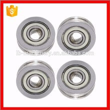 5 * 16 * 5 mm line alignment wheel radial ball bearing U625ZZ with U groove