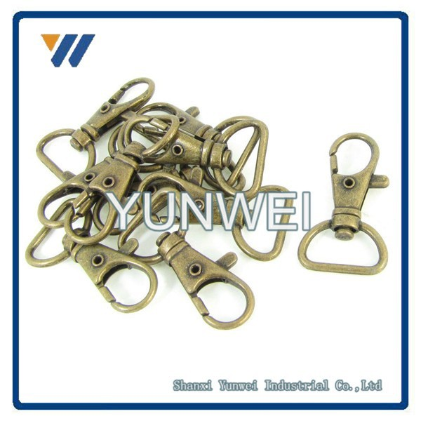 ISO9001 High Quality Bronze Tone Metal Handbag Strap Ornament Wearing Snap Hook