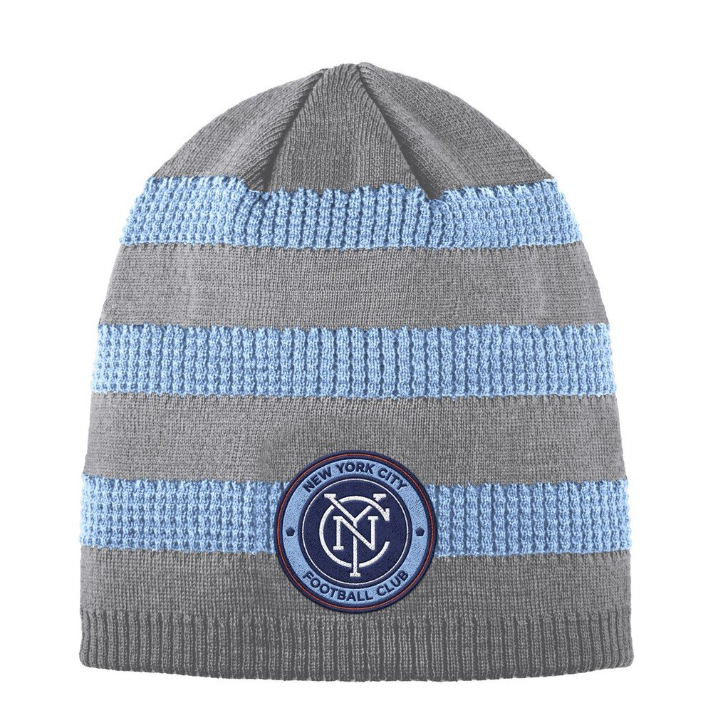 55b175874320c Get Quotations · adidas New York City FC Beanie Authentic Textured Knit Cap