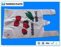 biodegradable plastic t-shirt shopping bags for vegetables and fruits