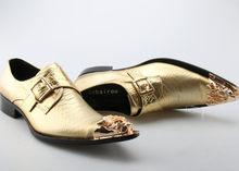 Zobairou sapato social gold Мужские модельные туфли 2017 слипон Роскошная лакированная кожа элегантная деловая официальная оксфордская обувь для мужчин(Китай)