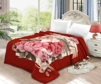 True love 100% polyester best price home textile double bed Raschel blanket