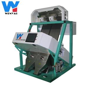 RGB CCD optical dry potato slice sorting machine with 2 chutes