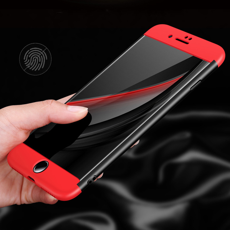 Amazon Hot Sales 3 in 1 For iPhone 6/7/8/X PC Hard 360 Degree Protective Cases Slim Matte Full Case Cover