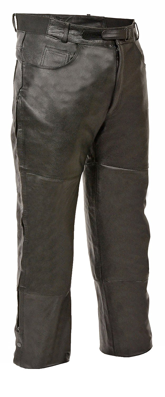 6f2d605a64 Get Quotations · Milwaukee Leather Leather Mens Chaps Mens Leather Jean  Style Pocket Over Pants Xl