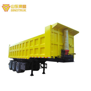 Top factory China brand sinotruk howo transportation truck tipper semi trailer for sale