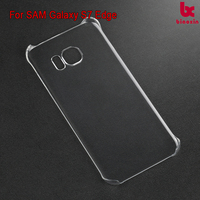PC smooth Crystal view Hybrid Scratch Resistant Back Cover with Shock Absorbing Bumper for Samsung Galaxy S7 Edge Case