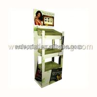 Free standing high quality corrugated cardboard greeting card floor standing jewelry display
