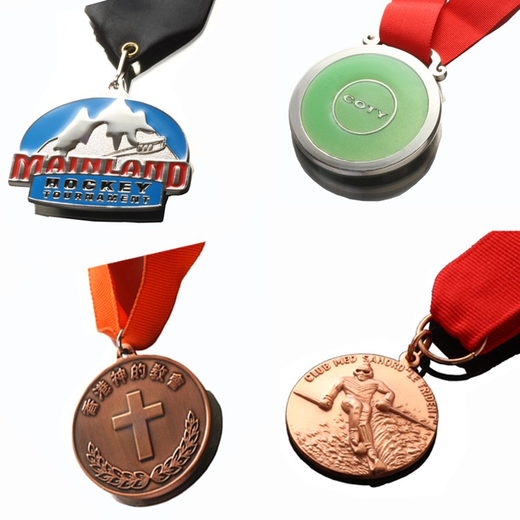 High Quality Metal Enamel Gold Sports Medal