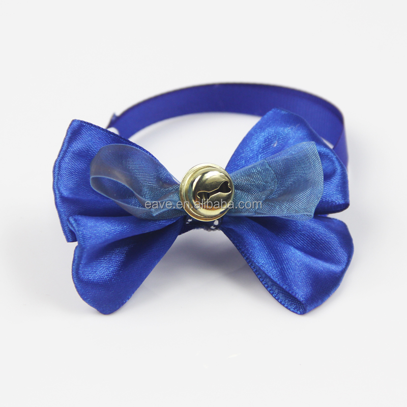 Adjustable Bow Tie With Bell Pet Necktie Collar Pet Grooming Bandana for Grooming Bow Ribbon bandana dog