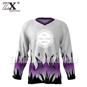 Sublimation authentic european ice hockey jersey