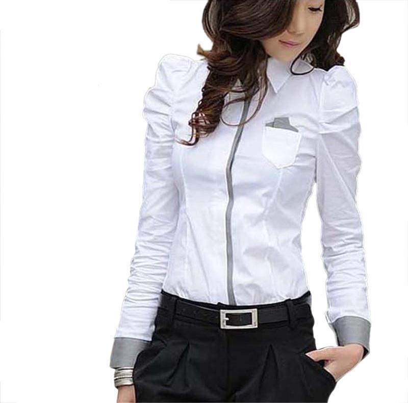 Get Quotations · BeEvDa Body shirt New Fashion 2015 Office Lady White Shirt  Women Formal Blouse Puff Sleeve blusas 7e3889cfa