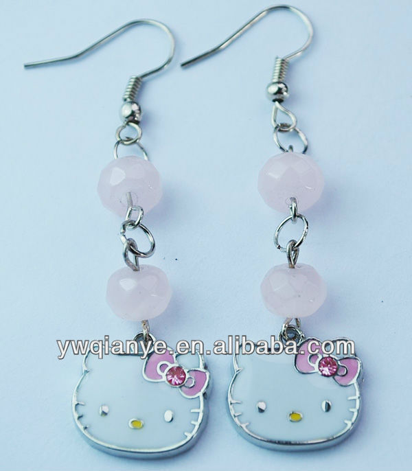 Lovely long dangle earring, chirldren gift,kids jewelry