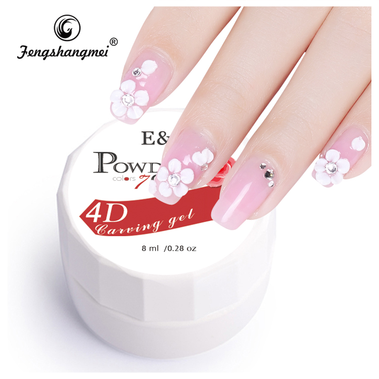 New Arrival Fengshangmei Acrylic Powder Gel Nail Art 4d Carving Gel ...