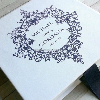 gorgeous hardcover pocket inside diy party box invitations with