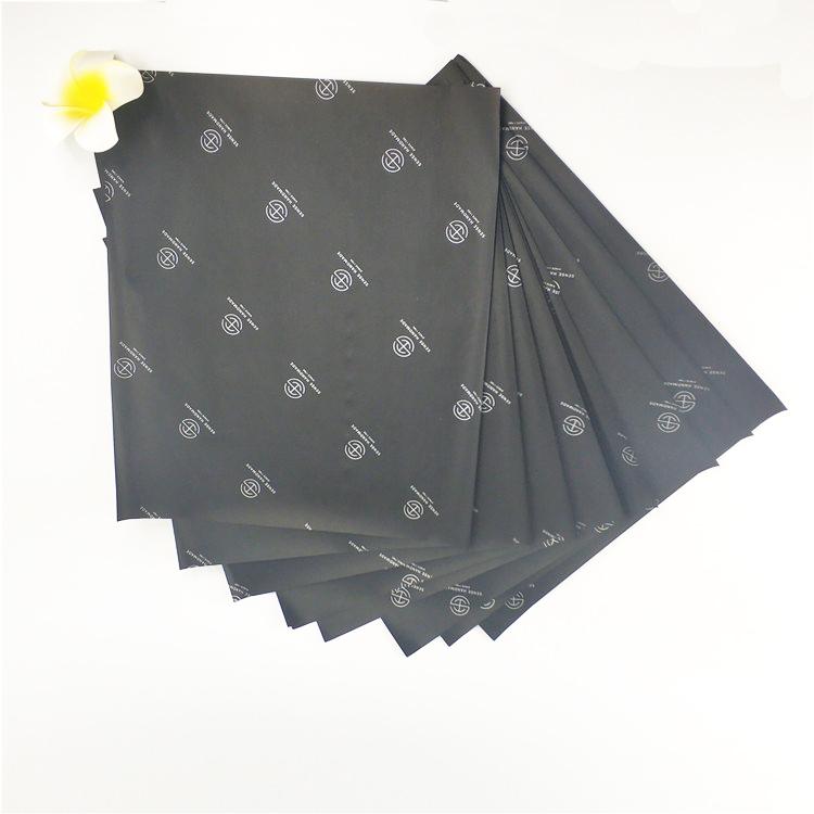 맞춤형 블랙 티슈 의류 포장지 고품질