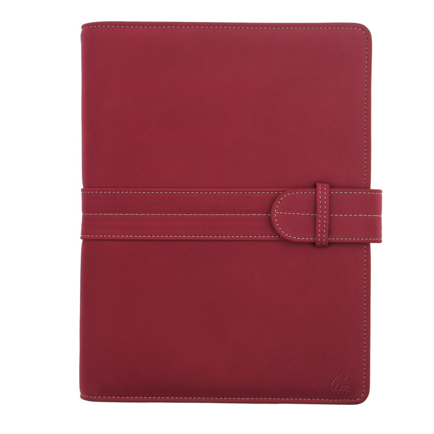 Gracallet® A5 Refillable Suede Leather Hard Cover Wide Rule Travel/Business/Student Notebook/Diary/Journal (Wine Red)