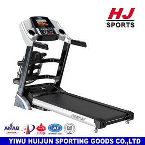 "HJ-B195 Gym Fitness Motorized Home Use Exercise Machines Cardio Equipment ealthcare Treadmill 3.0 HP With 7"" Color Screen Motor"