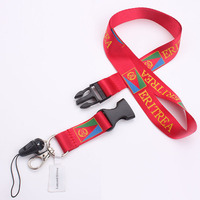 Eco-friendly 100%polyester silk screen printing phone lanyard for VIP