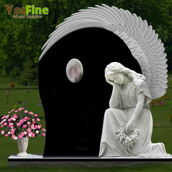 Wholesale marble Angel Statue Headstone Granite Tombstone