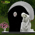 Wholesale Angel Statue Headstone Granite Tombstone