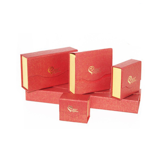 Red and yellow bag shape jewelry/gift box