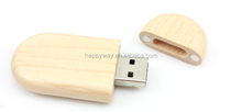 Advertising Wooden USB 0506002 MOQ 100PCS One Year Quality Warranty