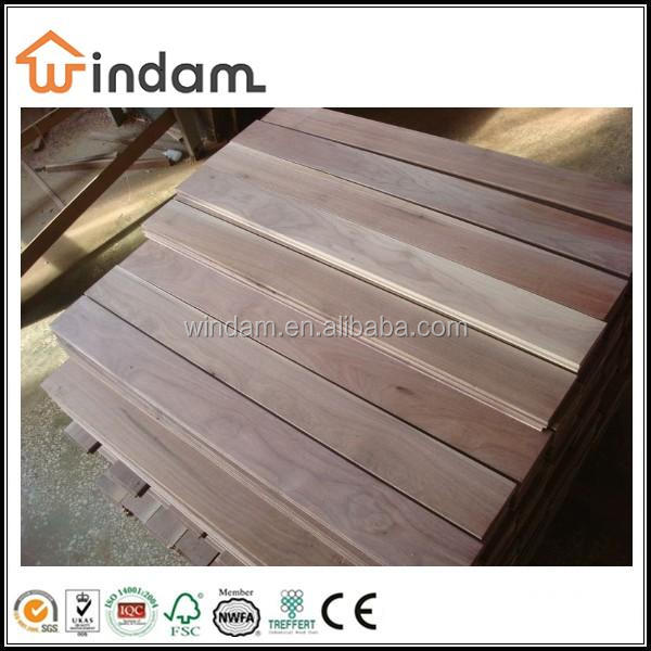 Select AB grade unfinished American walnut flooring