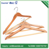 high quality wooden suit hanger/wardrobe clothes hanger rack