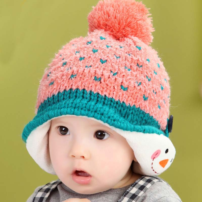 60e810cc4037 TSW6013 Korean winter infant hat baby boy baby girl heart pattern cute baby  winter hats