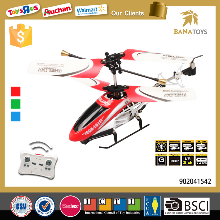 2016 China toy 3 channel remote control helicopter with gyro
