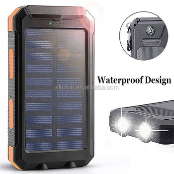 Solar Power Bank für Iphone Solarenergienbank 20000 mah Tragbare Solar Power Bank mit CE ROHS FCC