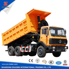 7975x2496x3550 dimension HOWO 6*4 336HP or 370HP LEFT HAND DRIVING DUMP TRUCK / TIPPER TRAILER