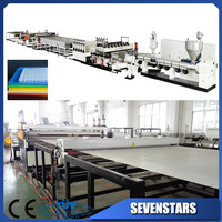 plastic sunlight PC PP PE hollow sheet extrusion making machine line