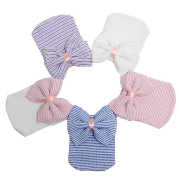 Bebé niñas cabello arcos sombrero recién nacido crochet sombrero ...