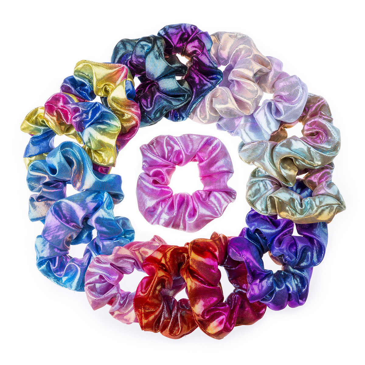 Wholesale bulk synthetic hair accessories scrunchies pack girls cotton hair ties scrunchies chiffon