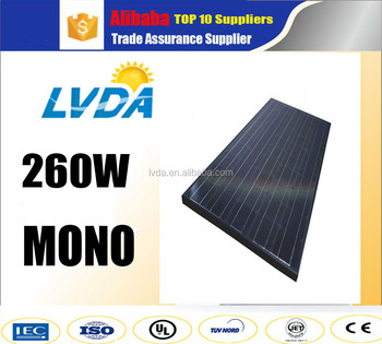 Lvda China Top Supplier 25 Years Warranty Black Frame Mono Solar ...