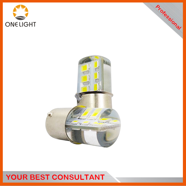 Onelight easy installation S25 1156 1157 auto car lamps 180lm 12SMD waterproof silicon led bulbs for brake reversing turn light