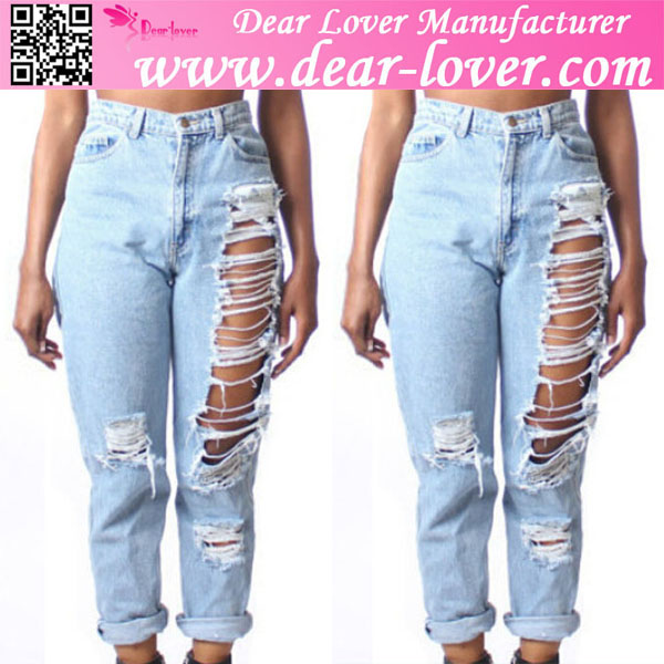 Cheap Plus Size High Waist Ripped Boyfriend Cheap Italian Jeans ...