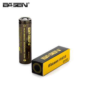 factory price 3500mah rechargeable li-ion battery BASEN 18650 unprotected batteries