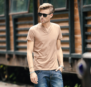International basic source t-shirts with button man unbranded fashion t shirt