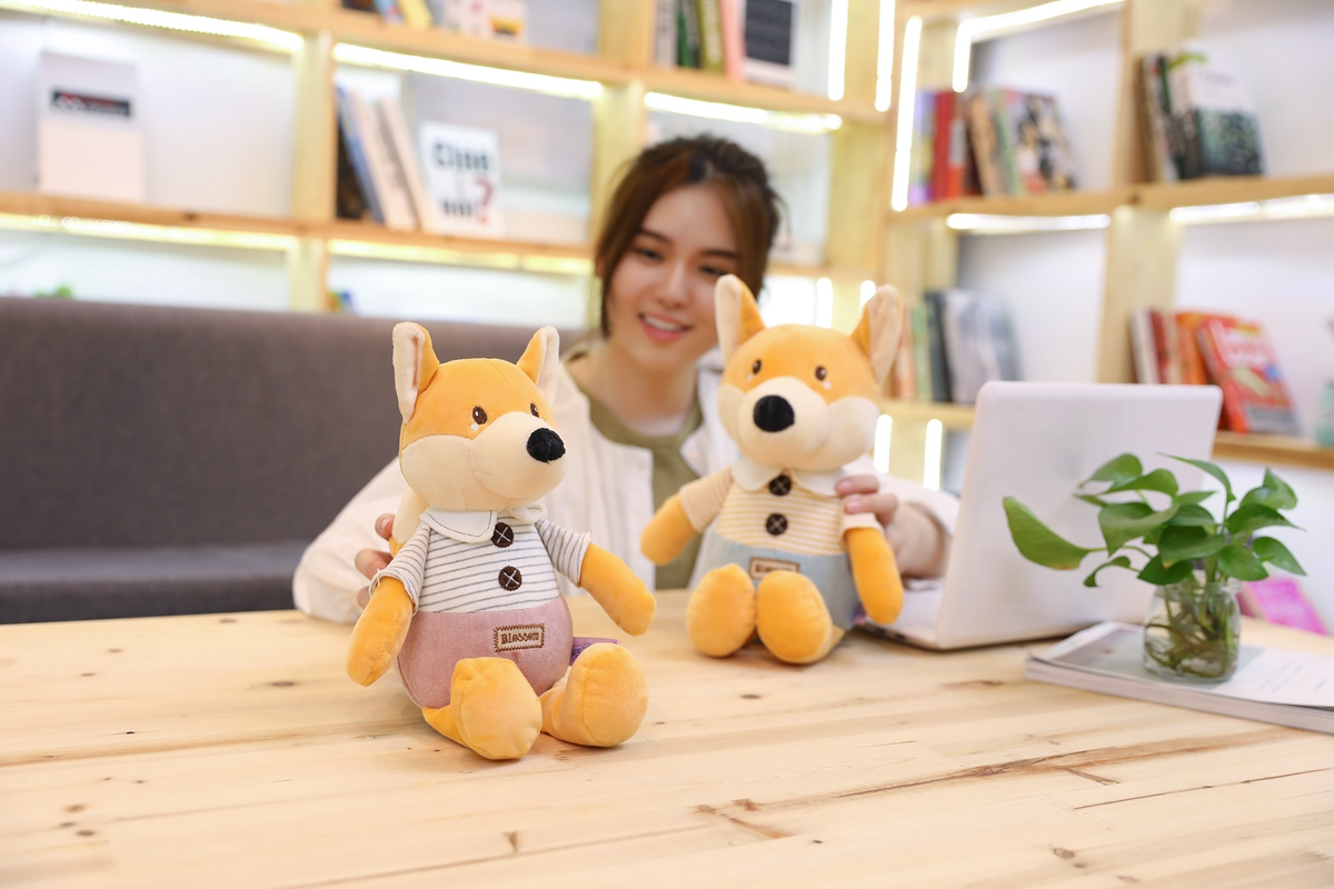 little prince plush fox toy soft cute fox plush toy jungle animal plush toy gift