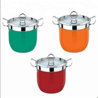 Kitchen Appliance induction stainless steel cooking pot set high quality cookware set casserole set with glass lid ss handles